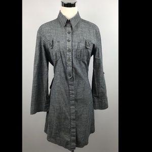 Anthropologie Fei Chambray Denim Shirt Dress Small